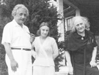 Albert, Margot und Elsa in Princeton 1935